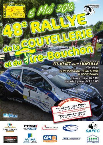Affiche Rallye de la Coutellerie et du Tire-Bouchon 2016