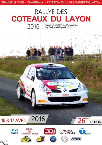Affiche Rallye des Coteaux du Layon 2016