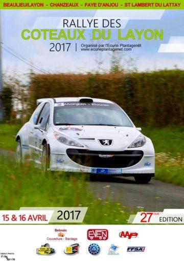 Affiche Rallye des Coteaux du Layon 2017