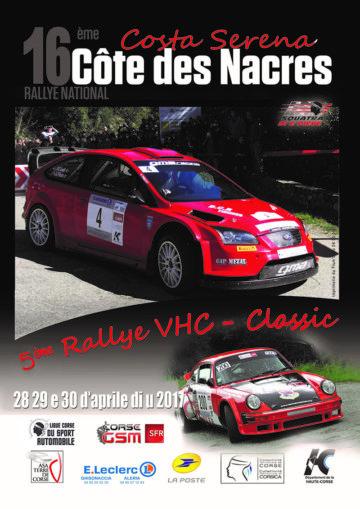 Affiche Rallye Côte des Nacres - Costa Serena 2017