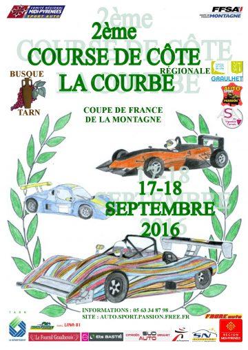 Affiche Course de Côte de la Courbe 2016