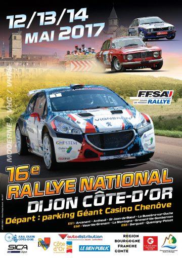 Affiche Rallye Dijon - Côte-d'Or 2017