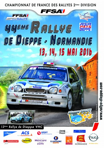 Affiche Rallye de Dieppe 2016