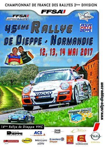 Affiche Rallye de Dieppe 2017