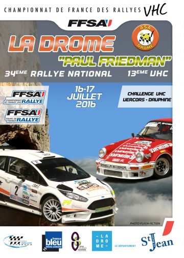 Affiche Rallye de la Drôme 2016
