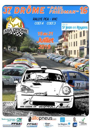 Affiche Rallye de la Drôme 2019
