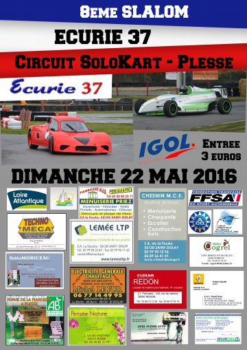 Affiche Slalom Écurie 37 - Solokart 2016