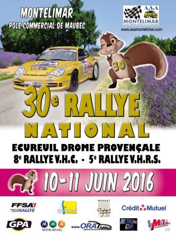 Affiche Rallye Écureuil - Drôme Provençale 2016