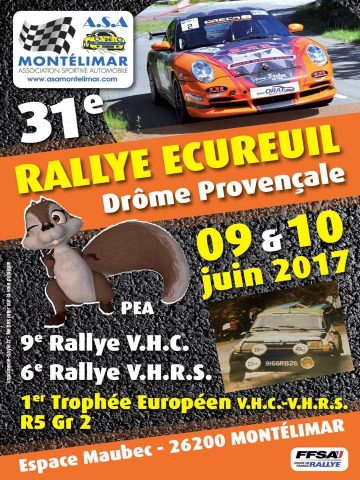 Affiche Rallye Écureuil - Drôme Provençale 2017