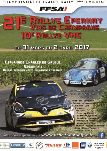 Affiche Rallye Épernay - Vins de Champagne 2017