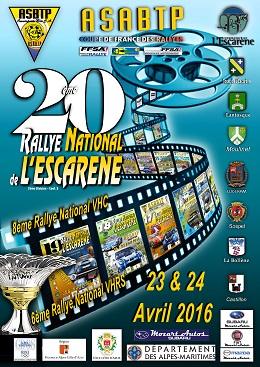 Affiche Rallye de L'Escarène 2016