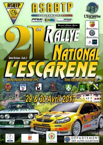 Affiche Rallye de L'Escarène 2017