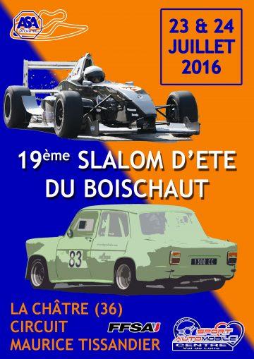 Affiche Slalom d'Été du Boischaut 2016