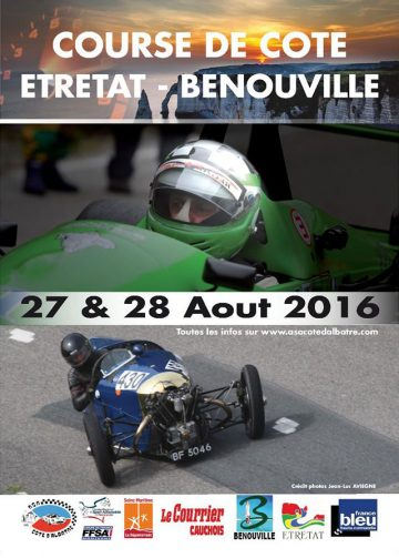 Affiche Course de Côte d'Étretat Bénouville 2016