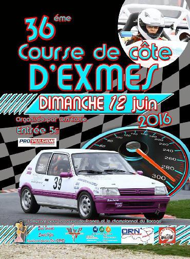 Affiche Course de Côte d'Exmes 2016