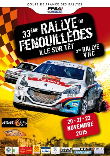 Affiche Rallye du Fenouillèdes 2015