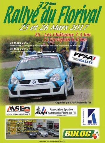 Affiche Rallye du Florival 2017