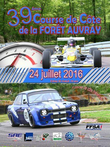 Affiche Course de Côte de La Forêt-Auvray 2016