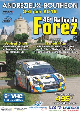 Affiche Rallye du Forez 2016