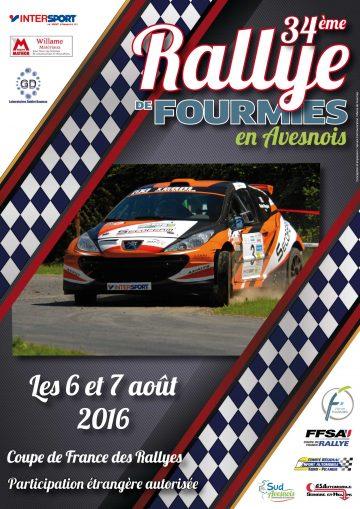 Affiche Rallye de Fourmies en Avesnois 2016