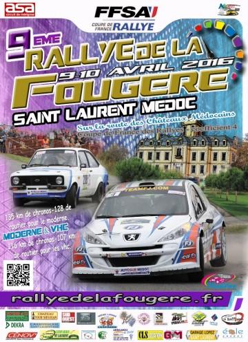 Affiche Rallye de la Fougère 2016