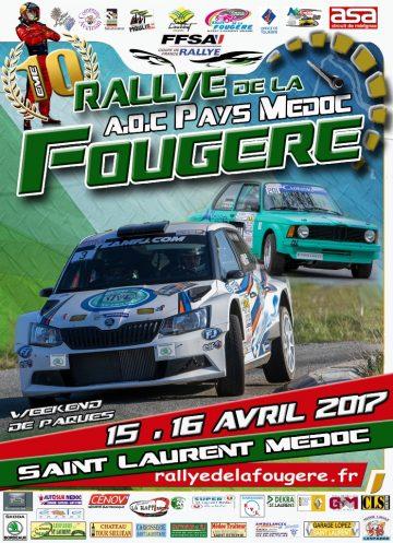 Affiche Rallye de la Fougère 2017