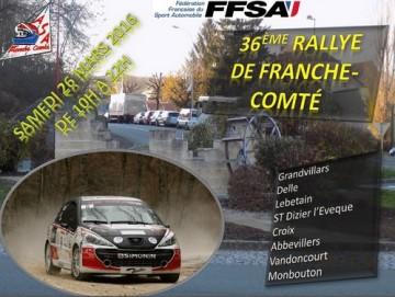 Affiche Rallye de Franche-Comté 2016