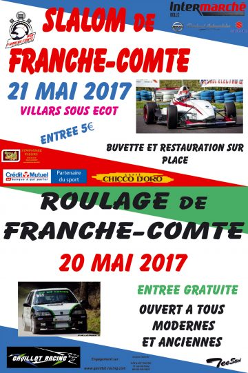Affiche Slalom de Franche-Comté 2017