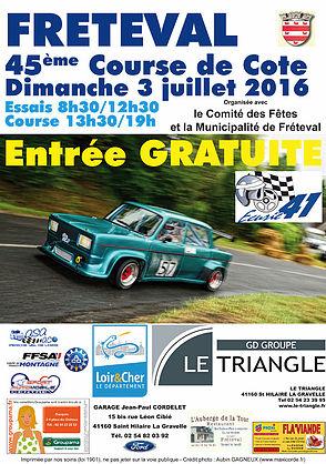 Affiche Course de Côte de Fréteval 2016