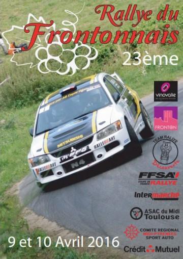 Affiche Rallye du Frontonnais 2016