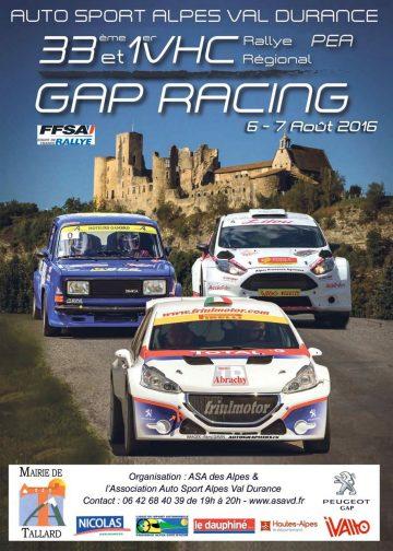 Affiche Rallye du Gap Racing 2016
