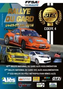 Affiche Rallye du Gard 2016