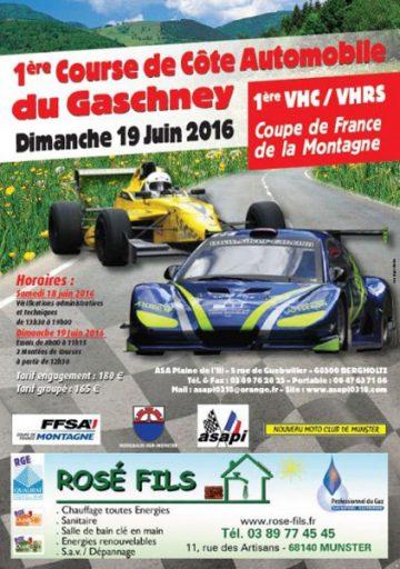 Affiche Course de Côte du Gaschney 2016