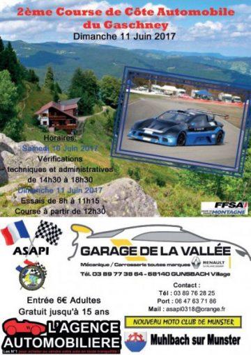 Affiche Course de Côte du Gaschney 2017