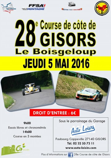 Affiche Course de Côte de Gisors 2016