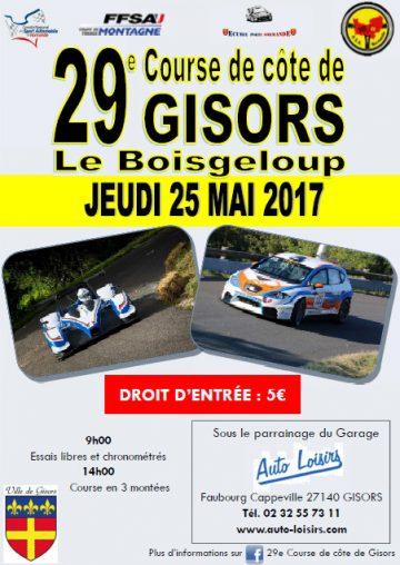 Affiche Course de Côte de Gisors 2017