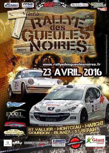 Affiche Rallye des Gueules Noires 2016