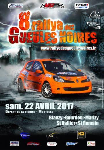 Affiche Rallye des Gueules Noires 2017