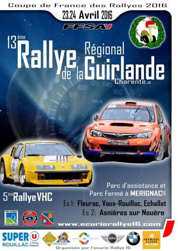 Affiche Rallye de la Guirlande 2016