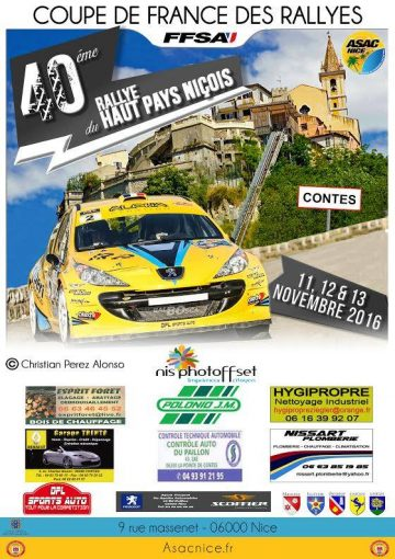 Affiche Rallye du Haut Pays Niçois 2016