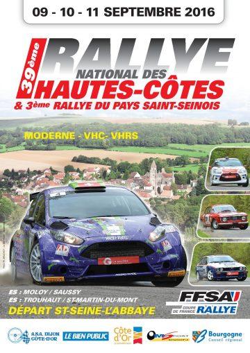 Affiche Rallye des Hautes Côtes 2016