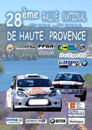 Affiche Rallye de Haute Provence 2016