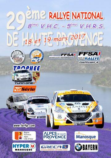 Affiche Rallye de Haute Provence 2017