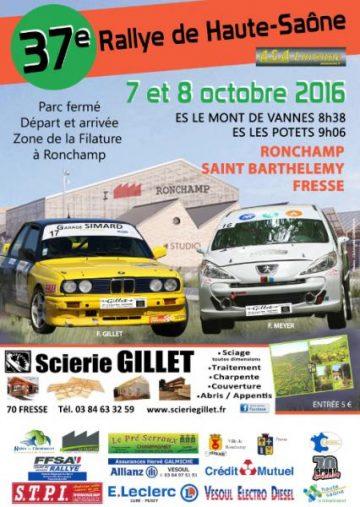 Affiche Rallye de la Haute-Saône 2016