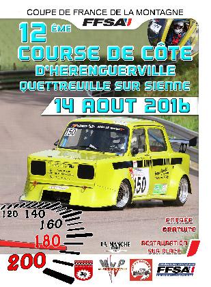 Affiche Course de Côte d'Hérenguerville - Quettreville-sur-Sienne 2016