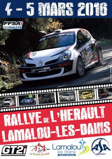 Affiche Rallye de l'Hérault 2016