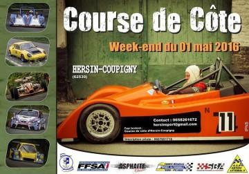 Affiche Course de Côte d'Hersin-Coupigny 2016