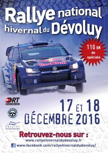 Affiche Rallye Hivernal du Dévoluy 2016