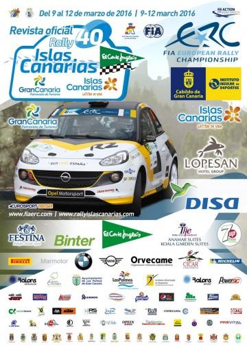 Affiche Rallye des Îles Canaries 2016