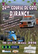 Affiche Course de Côte d'Irancy 2016